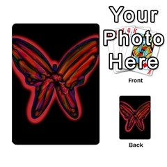 Red Butterfly Multi Purpose Cards (rectangle)  by Valentinaart