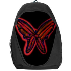 Red Butterfly Backpack Bag by Valentinaart