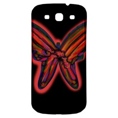 Red Butterfly Samsung Galaxy S3 S Iii Classic Hardshell Back Case by Valentinaart
