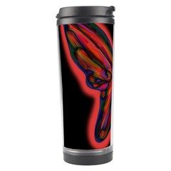 Red Butterfly Travel Tumbler by Valentinaart