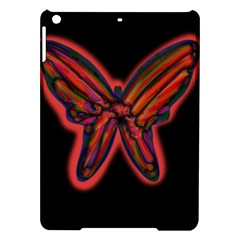 Red Butterfly Ipad Air Hardshell Cases by Valentinaart