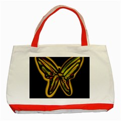 Night Butterfly Classic Tote Bag (red) by Valentinaart