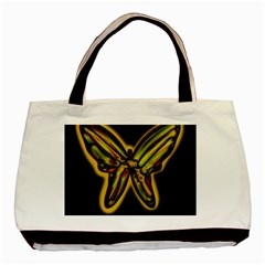 Night Butterfly Basic Tote Bag (two Sides) by Valentinaart