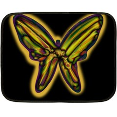 Night Butterfly Fleece Blanket (mini)
