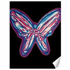 Neon Butterfly Canvas 36  X 48   by Valentinaart