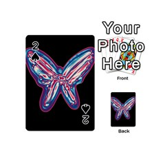 Neon Butterfly Playing Cards 54 (mini)  by Valentinaart