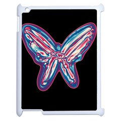 Neon Butterfly Apple Ipad 2 Case (white) by Valentinaart
