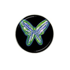 Green Neon Butterfly Hat Clip Ball Marker (4 Pack) by Valentinaart