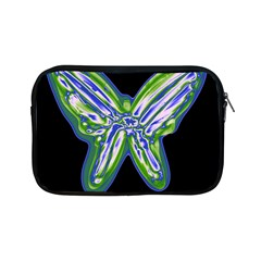 Green Neon Butterfly Apple Ipad Mini Zipper Cases by Valentinaart