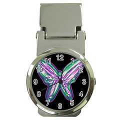 Neon Butterfly Money Clip Watches by Valentinaart