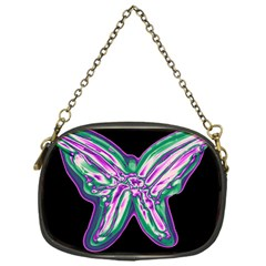 Neon Butterfly Chain Purses (one Side)  by Valentinaart