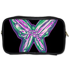 Neon Butterfly Toiletries Bags