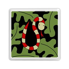 Red Cartoon Snake Memory Card Reader (square)  by Valentinaart