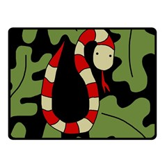Red Cartoon Snake Double Sided Fleece Blanket (small)  by Valentinaart