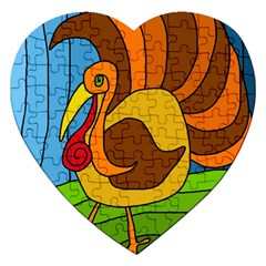Thanksgiving Turkey  Jigsaw Puzzle (heart) by Valentinaart
