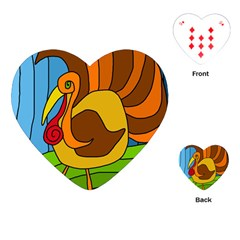 Thanksgiving Turkey  Playing Cards (heart)  by Valentinaart