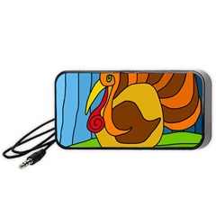Thanksgiving Turkey  Portable Speaker (black)  by Valentinaart