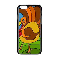 Thanksgiving Turkey  Apple Iphone 6/6s Black Enamel Case by Valentinaart