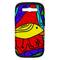 Yellow Bird Samsung Galaxy S Iii Hardshell Case (pc+silicone) by Valentinaart