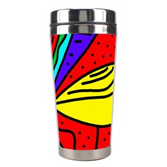 Yellow Bird Stainless Steel Travel Tumblers by Valentinaart