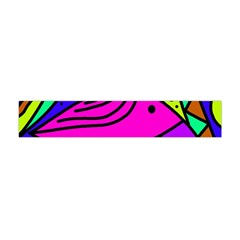 Pink Bird Flano Scarf (mini) by Valentinaart