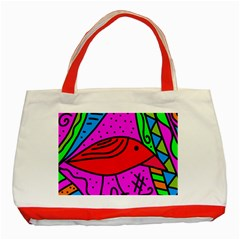 Red Bird Classic Tote Bag (red) by Valentinaart