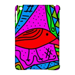 Red Bird Apple Ipad Mini Hardshell Case (compatible With Smart Cover) by Valentinaart
