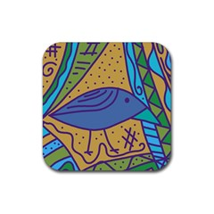 Blue Bird Rubber Coaster (square)  by Valentinaart
