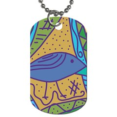 Blue Bird Dog Tag (one Side) by Valentinaart