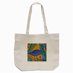 Blue Bird Tote Bag (cream) by Valentinaart
