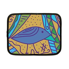 Blue Bird Netbook Case (small)  by Valentinaart