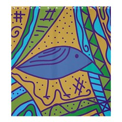 Blue Bird Shower Curtain 66  X 72  (large)  by Valentinaart