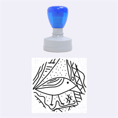 Blue Bird Rubber Round Stamps (medium) by Valentinaart
