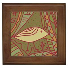 Brown Bird Framed Tiles by Valentinaart