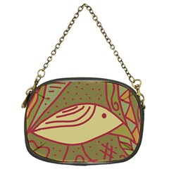 Brown Bird Chain Purses (one Side)  by Valentinaart