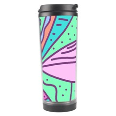 Pink Pastel Bird Travel Tumbler by Valentinaart