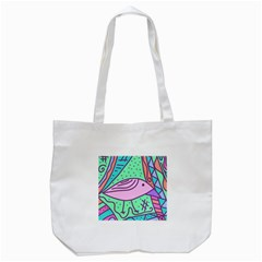 Pink Pastel Bird Tote Bag (white)