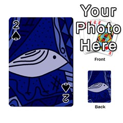 Blue Bird Playing Cards 54 Designs  by Valentinaart