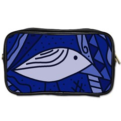 Blue Bird Toiletries Bags 2 Side by Valentinaart