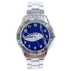 Blue Bird Stainless Steel Analogue Watch