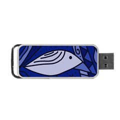 Blue Bird Portable Usb Flash (two Sides) by Valentinaart