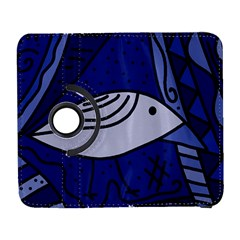 Blue Bird Samsung Galaxy S  Iii Flip 360 Case by Valentinaart
