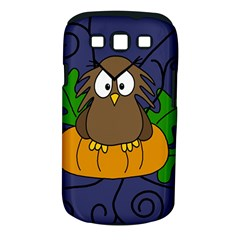 Halloween Owl And Pumpkin Samsung Galaxy S Iii Classic Hardshell Case (pc+silicone)
