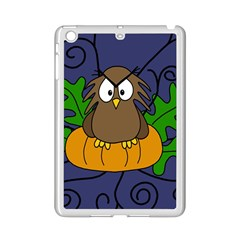 Halloween Owl And Pumpkin Ipad Mini 2 Enamel Coated Cases