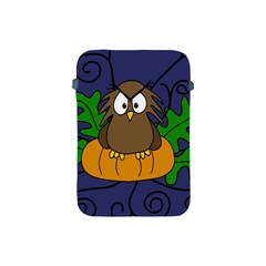 Halloween Owl And Pumpkin Apple Ipad Mini Protective Soft Cases by Valentinaart