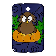 Halloween Owl And Pumpkin Samsung Galaxy Note 8 0 N5100 Hardshell Case  by Valentinaart