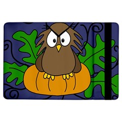 Halloween Owl And Pumpkin Ipad Air Flip by Valentinaart