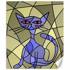 Artistic Cat   Blue Canvas 20  X 24   by Valentinaart