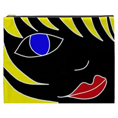 Blond Girl Cosmetic Bag (xxxl)  by Valentinaart