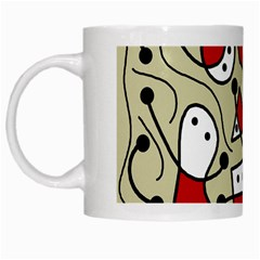 Playful Abstraction White Mugs by Valentinaart